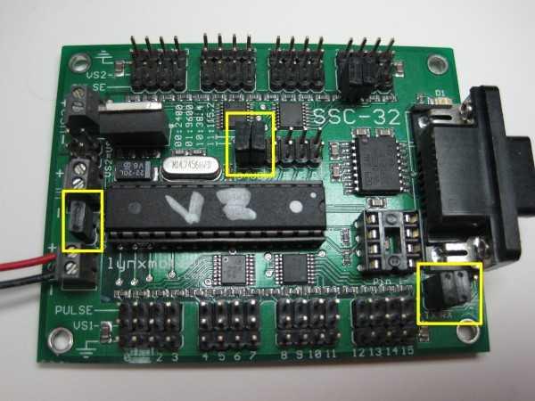 Configure SSC-32 servo controller