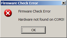 Hardware Not Found